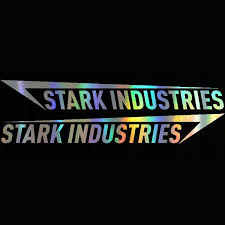 Rainbow 2pcs 58 8cm Stark Industries Car Body Stripes Stickers Vinyl Decal Marvel Iron Man Avengers Car Window Car Stying Jdm Racing Wish
