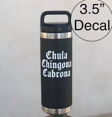 Chula Chingona Cabrona Decal Tumbler Sticker Yeti Decal Old English Latina Mexican Spanish Cup Decor Wall Stickers Aliexpress