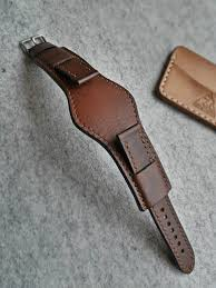 genuine leather cuff watch band 18mm