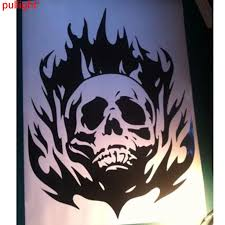 Skull Flame Hood Decal Large Auto Graphics Sticker Truck Car Body Trailer Boat Car Body Graphic Stickerhood Decal Aliexpress