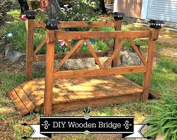 diy garden bridge plans made with wood