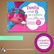 Invitaciones Digitales Trolls Poppy 50 00 En Mercado Libre