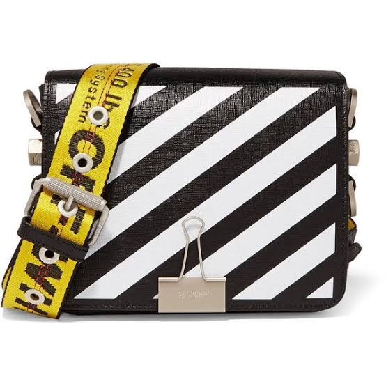 Image result for White striped sling bags