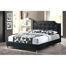 amusing black leather platform bed king