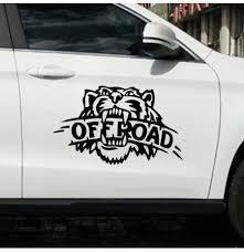 Car Sticker Tiger Decals Vehicle Truck Bumper Window Wall Mirror Decoration