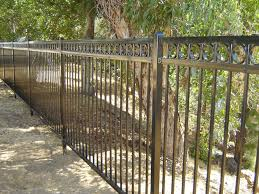 Wrought Iron Steel Fences 3 Rail Flat Top With Rings 8 Ft Wide Panels Unassembled Kits
