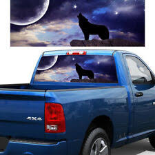 P430 Wolf Rear Window Tint Graphic Decal Wrap Back Truck Tailgate