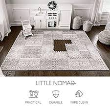 Amazon Com Little Nomad Foam Floor Tiles Baby Play Mat Infant Roam Free Authentic 4 X 6 Soft Interlocking Puzzle Flooring For Toddler And Kids Resembles An Area Rug As Seen