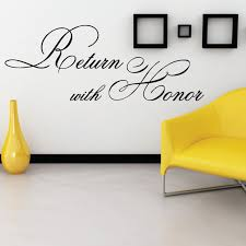 Return With Honor Designer Christian Wall Art Decal