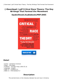 Download-) pdf Critical Race Theory ...