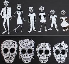 Sugar Skull Skeleton Family Car Stickers Family Car Stickers Family Stickers Family Car Decals