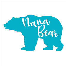 Amazon Com Nana Bear Vinyl Die Cut Decal Sticker For Car Laptop Etc Handmade