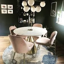 silhouette pedestal round dining table