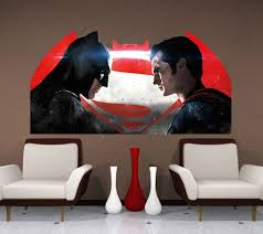 Batman V Superman Wall Decal Superhero Wall Design Primedecals Superman Wall Decal Batman Wall Art Superman Wall
