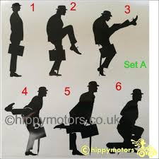 Python Silly Walks Decals Made Using Durable Colourfast Vinyl