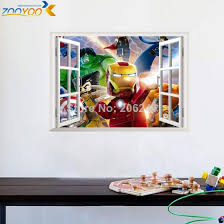 Online Shop 3d Effect Fake Window Wall Stickers For Kids Rooms Home Decor Cartoon Movie Wall Decals Diy Mural Art Pvc Lego Posters Aliexpress Mobile En Title