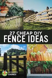 30 Diy Cheap Fence Ideas For Your Garden Privacy Or Perimeter Diy Garden Fence Backyard Fences Easy Fence