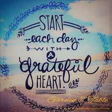 start each day a grateful heart quotes