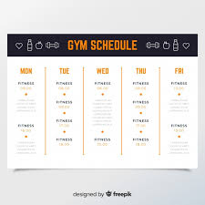 workout schedule template free vector