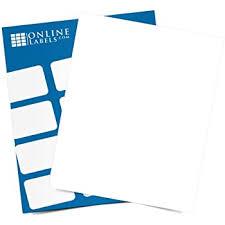 Amazon Com Waterproof Vinyl Sticker Paper 8 5 X 11 Full Sheet Label 100 Sheets Laser Printer Online Labels Office Products