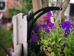 Concrete Fence Post Hook Over Hanging Basket Bracket Etsy