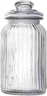 ripple food storage tall glass jar