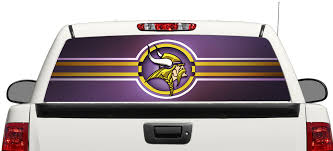 Product Minnesota Vikings Nfl Rear Window Decal Sticker Pick Up Truck Suv Car 3