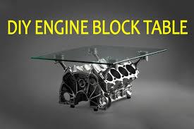 building a diy v8 engine block table