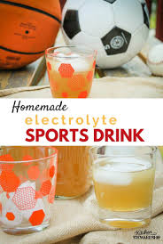 electrolyte replacement sports drink recipe