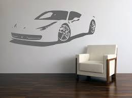 Vinyl Wall Decal Italian Super Car Ferrari 458 Italia Etsy Vinyl Wall Vinyl Wall Decals Vinyl Decor