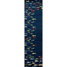 navy blue 2 ft x 8 ft runner rug