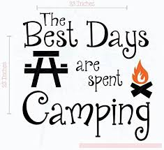 Amazon Com Camper Decor Best Days Spent Camping Wall Decals Family Vinyl Stickers 23x23 Inch Black Home Kitchen