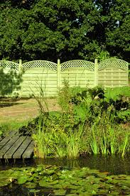 European Arched Lattice Top Fencing Panels Double Sided And Fully Treated Designed Fencing European Garden Fence Landscape
