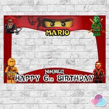 Ninjago Photo Booth Frame Ninjago Birthday Backdrops Photo