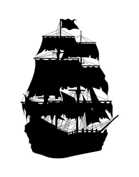 Pirate Ship Vinyl Wall Decal Silhouette Design Os Mb141 Stickerbrand