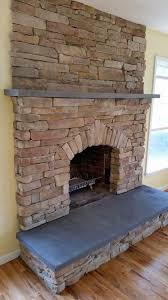 cultured stone fireplace stone