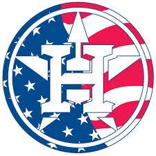 Houston Astros Camo Primary Logo Perfect Cut Decal 8 X 8