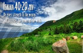 verse on strength isaiah 40 29