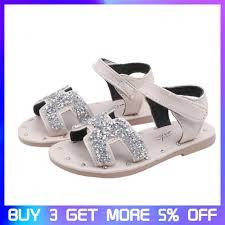 Mùa hè Giày Sandal Trẻ Em Áo Bé Gái Phẳng Giày Đi Biển Thời Trang ...