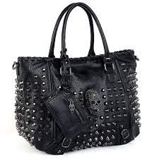 tote bag pu washed leather rivet