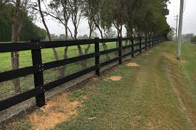 Black Post And Rail Fence With Wire Mesh Ducksdailyblog Fence How To Setup Post And Rail Fence Ideas Post And Rail Fence Fence Design Fence Options