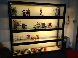 wood and glass cabinet glass wall