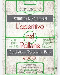 Dopolavoro - Ricomincia il campionato... Sabato dalle 18:00 In occasione  del Derby di Milano 'Cotoletta alla Milanese, patatine fritte e birra'. A  seguire la partita della Juventus a Crotone Forza XXXXX !!!