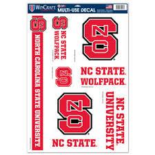 North Carolina State University Wolfpack Set Of 5 Ultra Decals At Sticker Shoppe