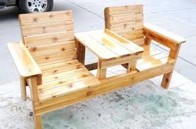 double seat bench with table plans