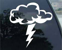 Amazon Com Ranger Products Storm Cloud Lightning Bolt Decal Sticker Die Cut Vinyl Decal For Windows Cars Trucks Tool Boxes Laptops Macbook Virtually Any Hard Smooth Surface Automotive