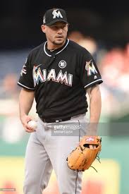 News Photo : Dustin McGowan of the Miami Marlins pitches ...