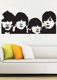 Beatles Wall Decal Vinyl Decor Art Sticker By Uberdecals On Etsy 54 99 Beatles Wall Art Beatles Wall Beatles Artwork