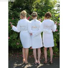 white jersey bridesmaid robes