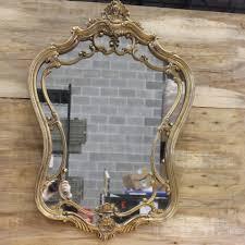 wooden filagree baroque style mirror